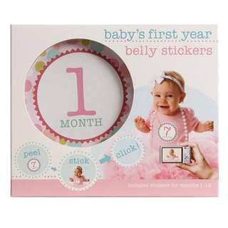 Baby's First Year Belly Sticker for Girl