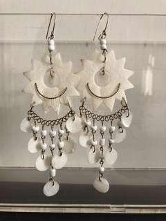 尼泊爾手工貝殼手造耳環