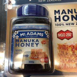 紐西蘭 Mt ADAM Manuka Honey 麥蘆卡蜜糖 MGO 260 (500g)
