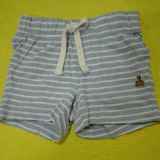 blue/white stripe short 3-6mos