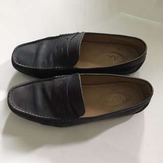 Tod's loafers navy blue UK 6.5