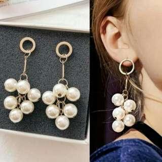 PROMO - Anting Fashion Multi Pearl Tassel