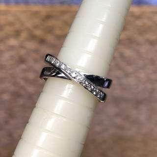 周大福 18kt diamond ring