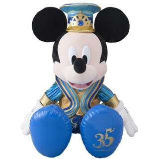 Tokyo Disneysea Disneyland Disney Resorts Sea Land 35th Anniversary Happiest Celebration Mickey Mouse Large Stuffed Plush Doll Toy Preorder