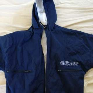 Navy vintage 90s Adidas puffy jacket
