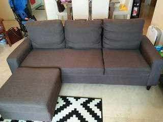 L Shaped Sofa - Ejiro Brown