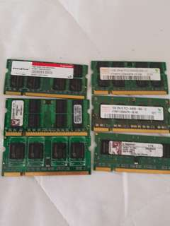 DDR2 1GB AND 2GB LAPTOP RAM