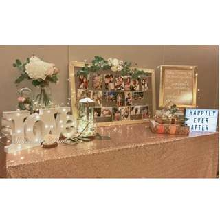 Wedding Reception / Photoalbum table styling@Pan Pacific Orchard Hotel