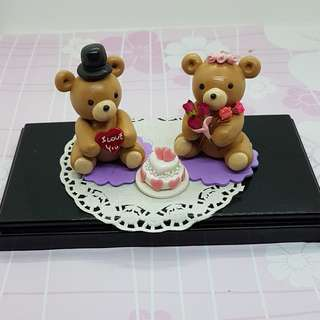 Handmade Miniature Wedding Bears
