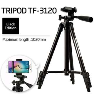 Lightweight Compact Travel Tripod 35cm - 102cm Long DSLR Mobile Phone iPhone Gopro Action Camera Digital 3 Way Pan & Tilt Camera Tripod 3120
