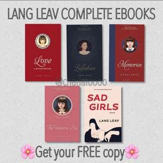 #FREE Lang Leav Ebooks
