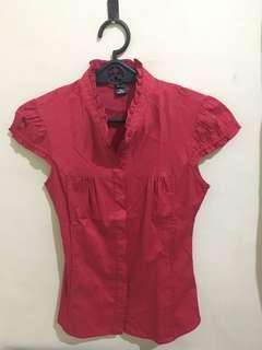 Mango Suit Blouse (Red)