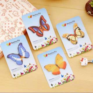 Butterfly sticky note