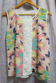Colorful sleeveless top