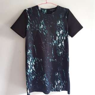 Marble Shift Dress in Black