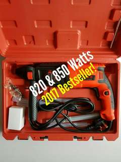 AIko 820 & 850 Watts Rotary Hammer Drill Professional [ Pic 2, 3, 4 & 5 are the buyer's review after using the drill ]