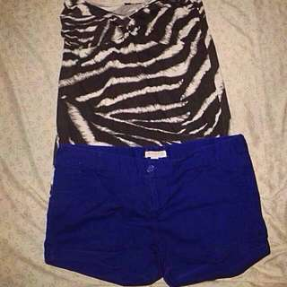 Dorothy Perkins Top and Forever 21 shorts