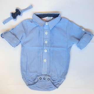 Blue Formal Romper - $12.90 - instock