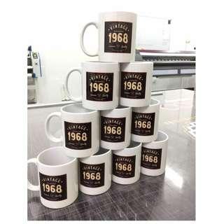 Vintage Design Mug Printing
