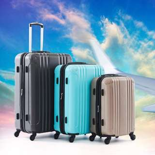 🚚 📌AIRWALK LUGGAGE - 飛翔系列 輕量防撞ABS硬殼行李箱 - 3色