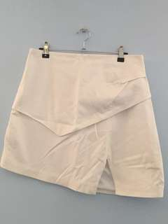 White Asymmetrical Skirt Size 12