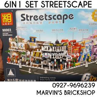 For Sale Streetscape Streetshops 6in1 Bigger versio  Building Blocks Toy