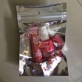Abercrombie & Fitch Pink Nail Polish & glitter set