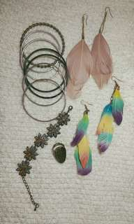 Bracelets, Ring and Earrings Bundle. Free shipping within Metro Manila