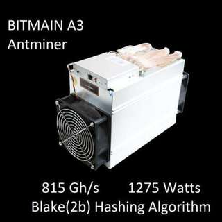 Bitmain A3 used miners 2 units