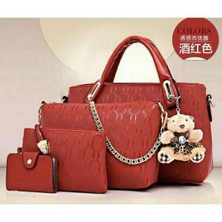 5 in 1 BEAR Handbag SLING BAG