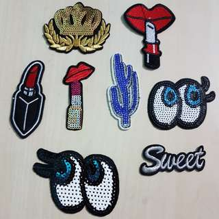 8pcs Iron On Patches Set