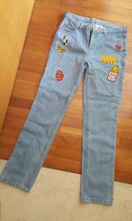 Patch Denim Jeans