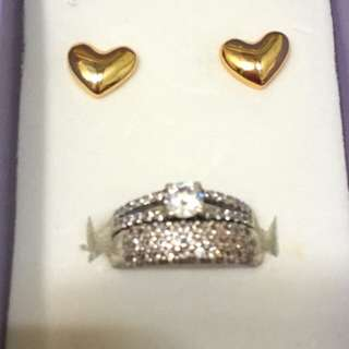 925 silver ring 2pc