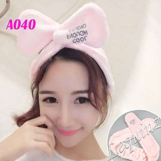 Pink Facial Towel Twisted Headband 4 for $10 ^^