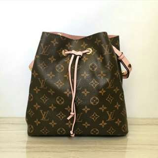 LOUIS VUITTON CLUNY NEONEO MONOGRAM IN PINK LEATHER MM