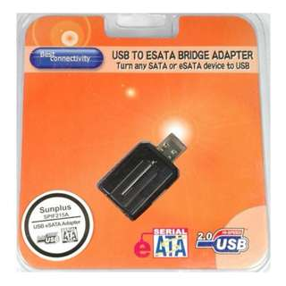 USB to ESATA BRIDGE ADPTER Turn any SATA to eSATA device USB