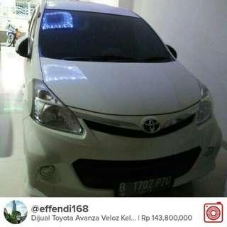 Di Jual Toyota Avanza Veloz Keluaran Des 2013