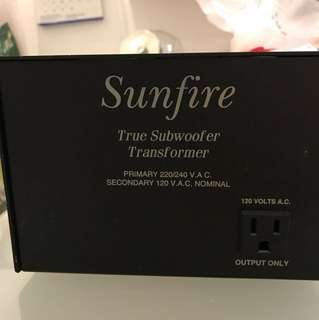 Sunfire step down Transformer