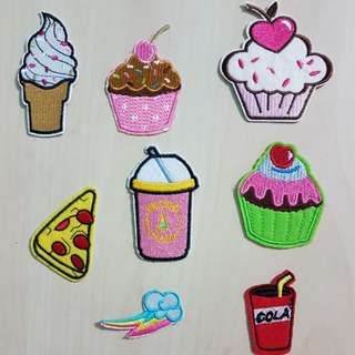 8pcs Iron On cupcakes Patches set