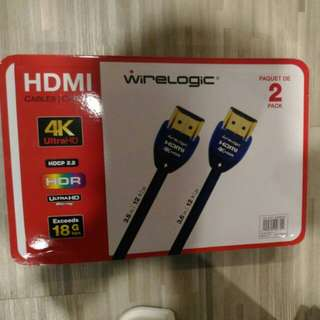 Wirelogic 4K HDMI cables pack of 2 !