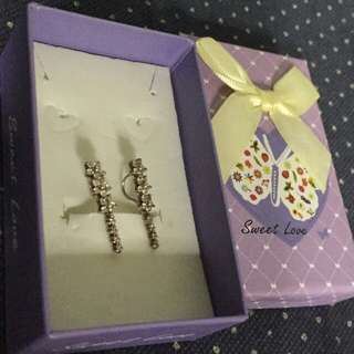 925 italy silver clip earings