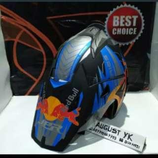 Helmet JPR redbull #2 semicross double visor