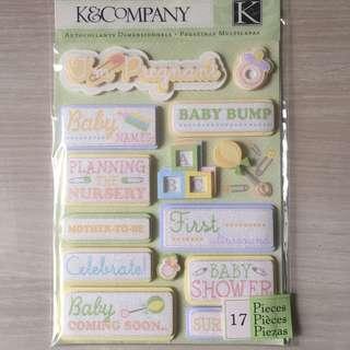 BN Scrapbook Stickers - pregnancy & baby shower