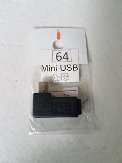 USB Mini male to female