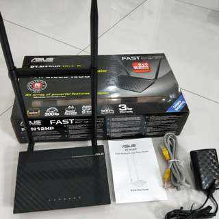Authentic Lightly Used Asus rt-n12hp Wireless High Power Router with 1 yr warranty