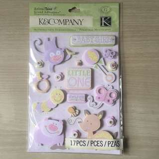 BN Scrapbook Stickers - pregnancy & arrival of baby girl
