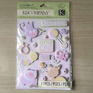 BN Scrapbook Stickers - pregnancy & arrival of baby girl