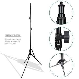 Pxel LS-215RFM 215cm 7 Feet Reverse Fold Light Stand with metal Joint