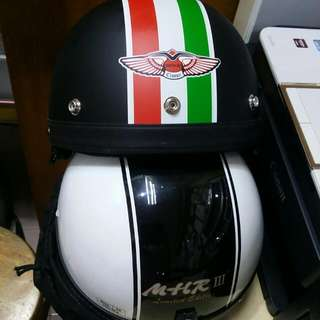 MHR III Apr Classic Limited Edition Mate Black Hitam Half Cap Helmet For Motorcyle Motorsikal