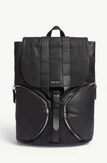 DIESEL D-xploration leather panel backpack